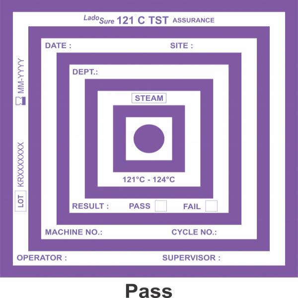 LadoSure 121°C TST Assurance Bowie Dick Test Pack