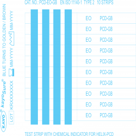 KayoSure Helix PCD Test Strips For ETO, Type 2 – 4 Lines
